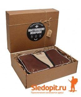 Подарочный набор туристической посуды Duck Expert КЕЙС на 6 персон 48 предметов коричневый