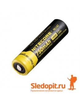 Аккумулятор NiteCore Li-Ion 14500  NL147 3.7V 750 mAh защишенный