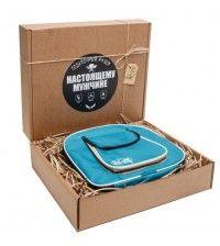Подарочный набор туристической посуды Duck Expert ТУРИСТ на 4 персоны 31 предмет голубой