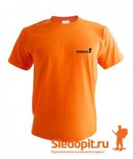 Футболка Sledopit.by оранжевая