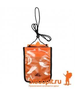 Гермокошелек влагозащитный нагрудный XL SPLAV оранж 17х21см