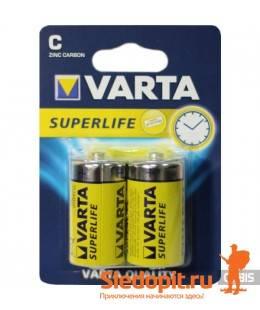 Батарейка угольно-цинковая VARTA SUPERLIFE MONO тип D 1.5V 2шт