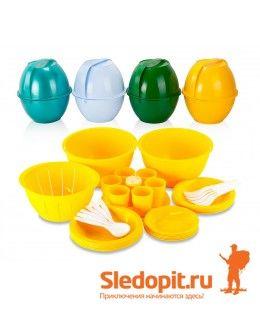 Набор кемпинговой посуды ПИКНИК зеленый
