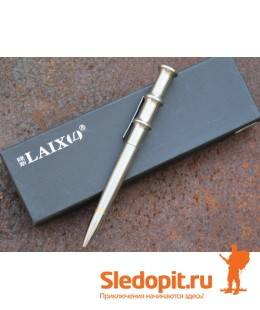 Тактическая ручка Laix В001 нержавеющая сталь длина 140мм