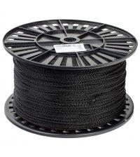 Шнур вязаный полипропиленовый с сердечником черный 4мм