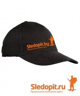 Бейсболка Sledopit.by черная
