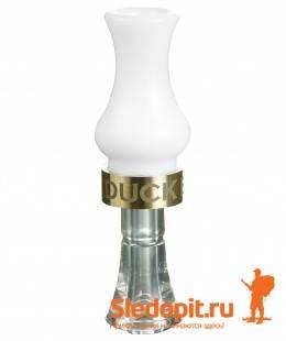 Манок на утку DUCK EXPERT серия Тимбер двухязычковый белый/кристал