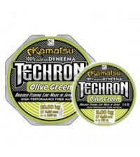 Леска плетеная  Kamatsu Techron Olive Green 100м 0.03мм-2.85кг