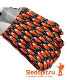 Паракорд 550 серо-оранжево-белый