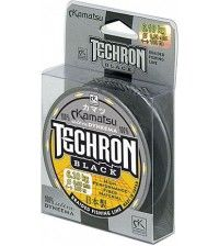 Леска плетеная  Kamatsu Techron Steel Black 100м 0.03мм-2.85кг