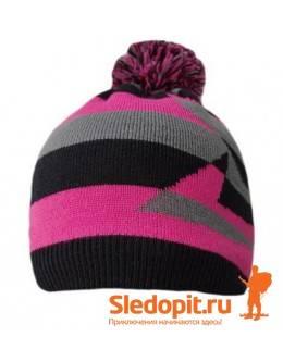 Водонепроницаемая шапка DexShell розовая с бубоном