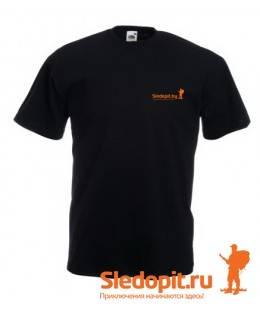 Футболка Sledopit.by черная