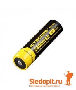 Аккумулятор NiteCore Li-Ion 18650  NL183 3.7V 2300 mAh защишенный
