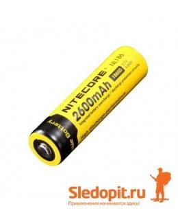 Аккумулятор NiteCore Li-Ion 18650  NL186 3.7V 2600 mAh защишенный