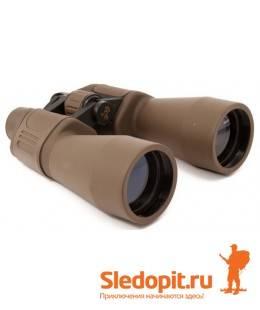 Бинокль Yagnob 10-50х50 коричневый пылевлагозащищенный
