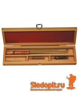 Набор для чистки оружия Nimar в деревянной коробке калибр 7мм