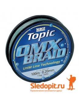 Плетеная леска Zebco OMX Braid 100м 0.22мм-13.5кг